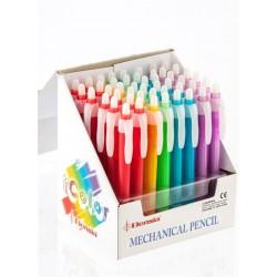 Ołówek automatyczny w 5 kolorach (2 rysiki i gumka)