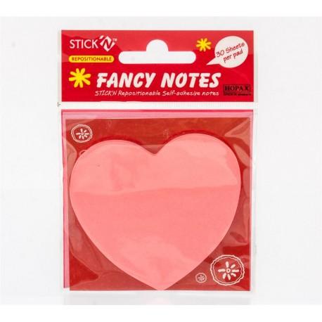 Karteczki samoprzylepne w kształcie serca - 21020
