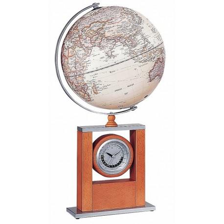 """Globus 10"""" z Zegarkiem Wskazującym Czas na Świecie - 3330HJY"""