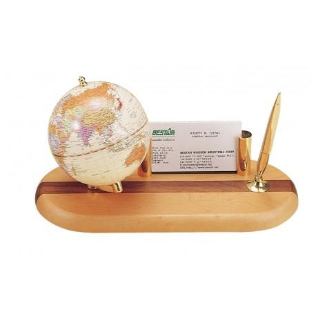 Mini globus z wizytownikiem i podstawką na długopis 0930HDY