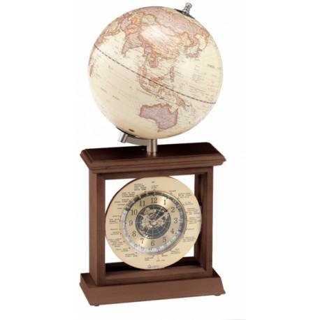 """Globus 8"""" z zegarem światowym - 3381WJN"""