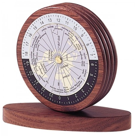 Okrągły Przycisk do Papieru z Tarczą Wskazującą Czas na Świecie - 0937WDN