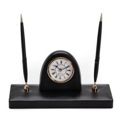 Stojak na długopisy z zegarem - 221406